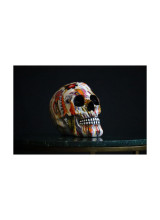 Mexican skull, richly decorated