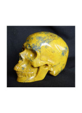 The skull carved into Pietersite crystal